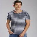 Navy Mens Striped T Shirt