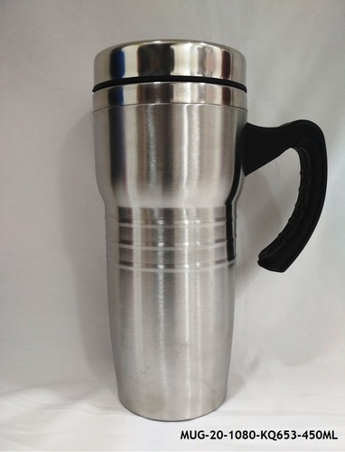 7dabec12b86 Stainless Steel Insulated Travel Mug With Sipper Lid -MUG-20, Rs 175 ...