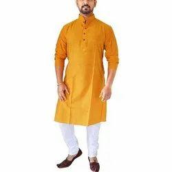 Casual Wear Mens Silk Kurta Pajama, Size: S-XXL, Machine and Hand Wash