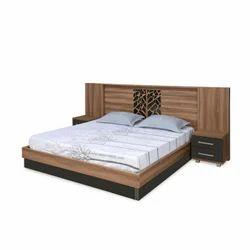 Nilkamal Walnut Autumn Queen Bed