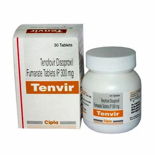 Tenvir 300mg (Tenofovir Disoproxil Fumarate) Tablets, Prescription,  Treatment: Anti Hiv, Rs 900 /bottle | ID: 17428447688