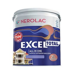 High Gloss Nerolac Excel Acrylic Exterior Emulsion Paint, Packaging Size: 1L