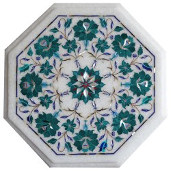 Home Decorative Marble Stone Inlay Pietra Dura Table Top