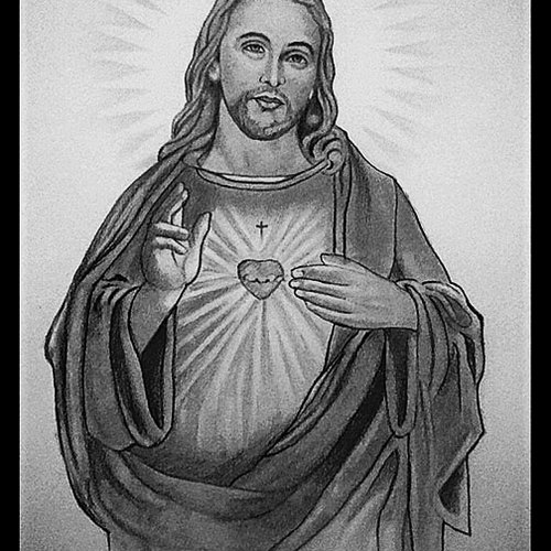Pencil Portrait Of Jesus Christ