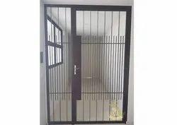 Standard Silver Mild Steel Door, For Home, Hinged