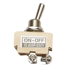 15 Amp DPST Toggle Switch