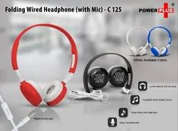 C125  FOLDING WIRED HEADPHONE SET