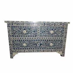 Bone Inlay Living Room Cabinet