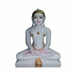 White Marble Jain Mahaveer Statue