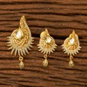 Festive Wear Kundan Gold Plated Classic Pendant Set 350078