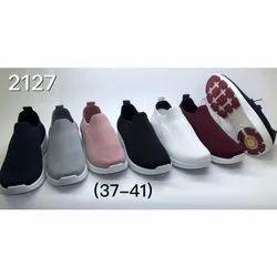 Canvas Casual Wear Ladies Designer Mesh Shoes, Size: 37-41