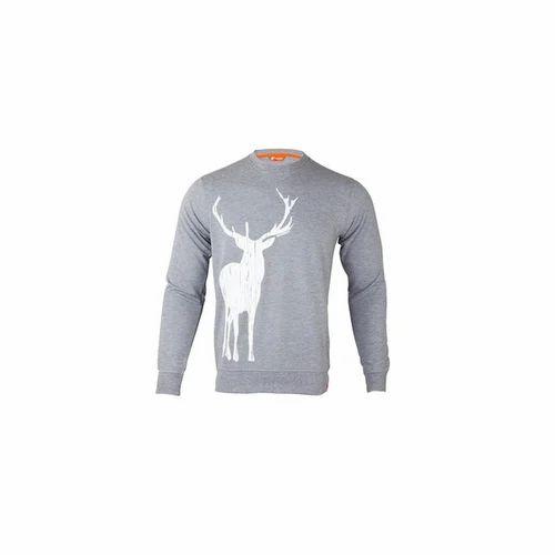 c487ff4b7a23 Light Grey Melange M And Xl Wildcraft Men's Sweatshirt Print Stag ...