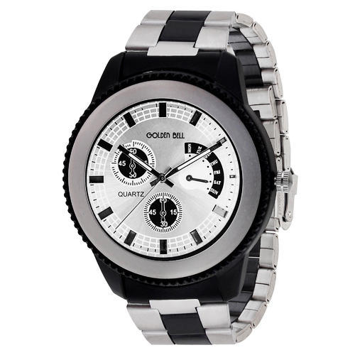 2e2e8cd8c07f Golden Bell Branded Silver Dial Steel Chain Analog Wrist Watch For ...