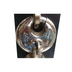 Main Door Stainless Steel Disc Lock, Polished, Padlock Size: 50 mm