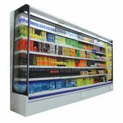 Metal Display Cooler Super Market Refrigerator