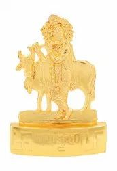 Golden Lord Krishna with Cow