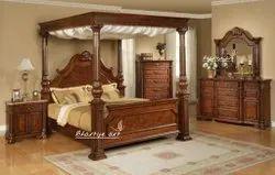 Bhartiye Art Wooden Carving Bed 026