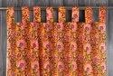 Cotton Printed Door Window Valance Drapery Curtain Hanging