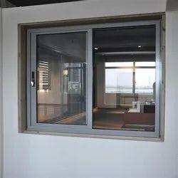 Modern Grey Aluminium Sliding Window for Home