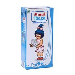 Amul Taaza Homogenised Toned Milk, Packaging: 1 L