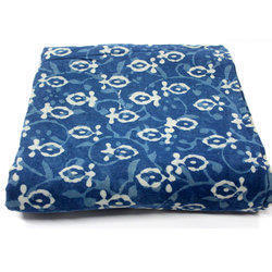 Hand Block Dabu Discharge Print Fabric