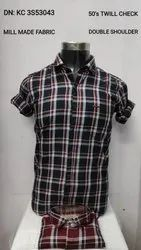 Collar Neck Slim Fit Mens Cotton Casual Shirt, Size: S To XXL