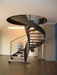 11 Feet Spiral Staircase, Material Grade: Mild Steel, 3000 Mm