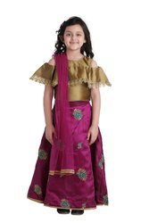 Adiva Kids Lehenga Choli Set For Girls, Size: 26-36