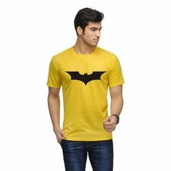 Mens Yellow Printed T Shirt