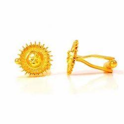 Surya (Sun) Designer Cufflinks In Silver