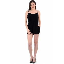 Cotton Party Wear Black Jumpsuit