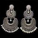 Oxidized Heavy Ghungroo Design Earrings