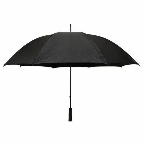 71cec1b80 Polyester Plain Black Umbrella, Rs 98 /piece, Bharat Agency | ID ...