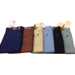 Plain Mens Casual Cotton Trouser, Size: 28-36 Inch