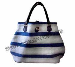 8ffda2e9ae53 Oran And Beige Cotton Handle Colorful Handbags