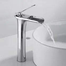 Somany Silver Bathroom Sink Tap