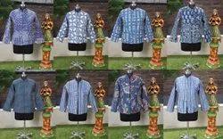 Cotton Indigo Printed & Machine Quilted Jacket