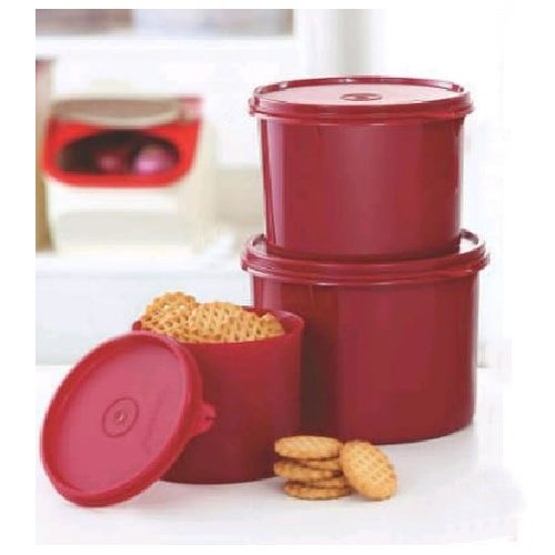 5f4f8d18ae3 Tupperware Round Colored Plastic Container.