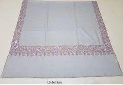 Pure Pashmina Dourdar Needle Work Border Shawl