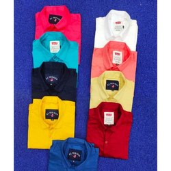 Casual Wear Long Sleeve Mens Plain Shirts