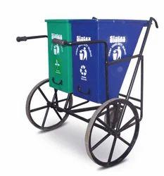 Hand Cart Wheel Dust Bin