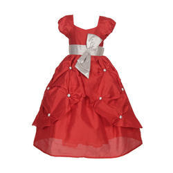 Chiffon Girls Gown, Packaging Type: Corrugated