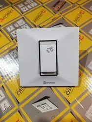 White Affonso Big Knob 10 Amp Bell Push Switch