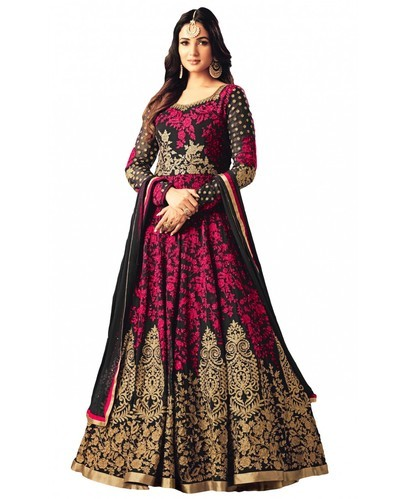 Magenta Zari Heavy Party Wear Embroidered Gown Style Anarkali Suit ...