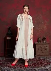 Pr Fashion Launched Beautiful Jacket Patterned Designer Readymade Kurti