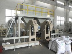 DK SYSTEMS Weighing Amp Bagging Toor Dal Bag Filling Machine, Capacity: 2 ton/hour