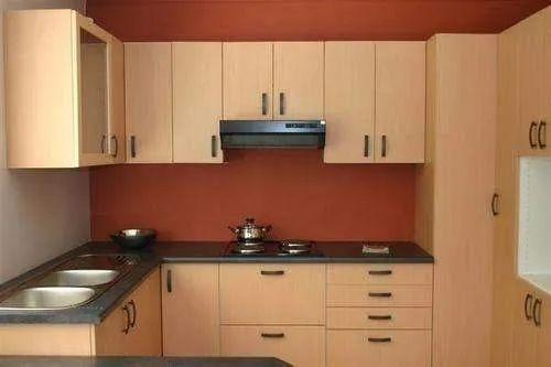 Wooden L Shape Modular Kitchen With Upper And Lower Unit, Work Provided: Wood Work & Furniture, Warranty: 5-10 Years