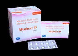 Myo-Inositol 500mg D-Chiro Inositol 13.8mg Chromium 33mcg & Vitamin D3 400IU Tablets