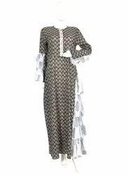 10 Cotton Hand Printed Women's Long Dress India DB30