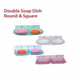 Double Soap Dish Round & Square